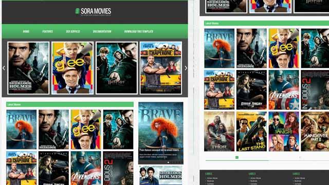 Sora Films premium templates in blogger   Sora Blogger premium Theme