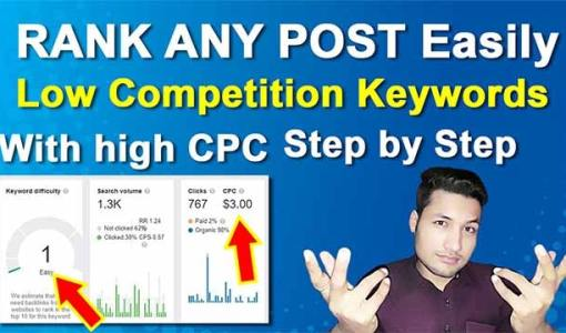 low competition keywords list | low competition keywords with high cpc