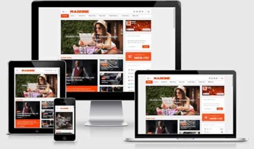 Responsive Blogger templates MagOne - Responsive News & Magazine Blogger Template