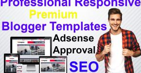 professional responsive blogger templates for AdSense approval