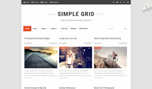 Simple Grid responsive blogger template | Simple Grid Blogger Template