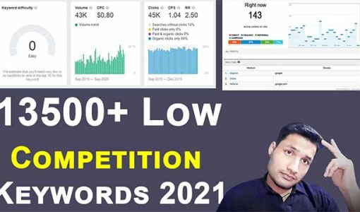 how to find low competition keywords ( List 2021) low competition keywords with high traffic