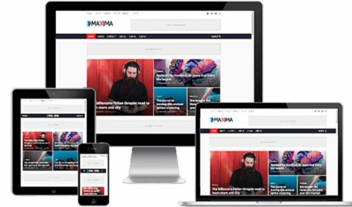 Maxima Blogger Responsive Template AMP Fast Loading AdSense approval Blogger Template