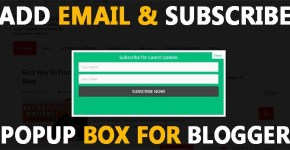 How do I add Email & Subscribe box Pop up for Blogger Code