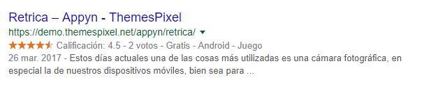 Appyn Theme Results inGoogle