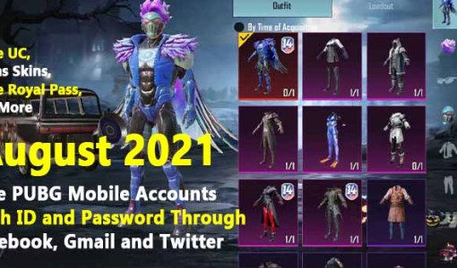 [August 2021] Free PUBG Mobile Accounts With ID and Password Through Facebook, Gmail and Twitter