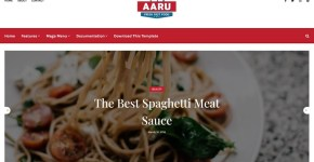 Aaru Blogger Template Free Download