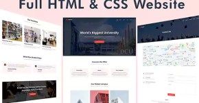 One Page Website Project HTML & CSS Code Full Responsive Website