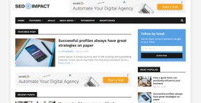 SEO Impact Blogger Template Free Download