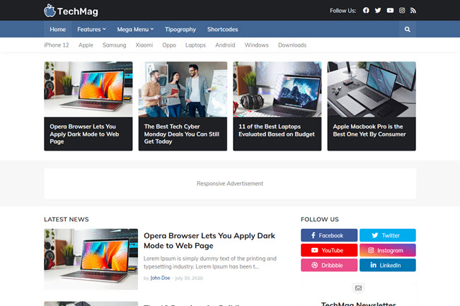 TechMag Blogger Template Free Download