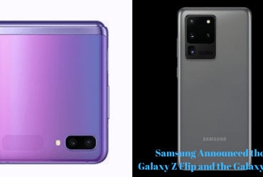 photo of the galaxy z flip and galaxy s20
