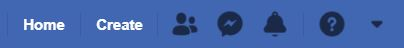 """A screenshot of icons from Classic Facebook. This photo is for the """"How to Hide Friends in Facebook"""" blog in TechToGraphy."""