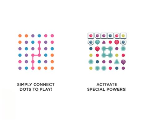 There are several colorful dots in this photo. It is a screenshot taken from the Google Play page of Dots & Co.
