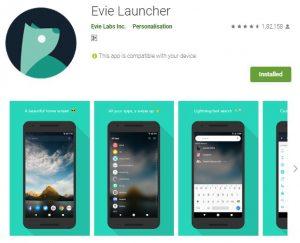 Evie launcher. best launcher for 2020. https://techtool360.com