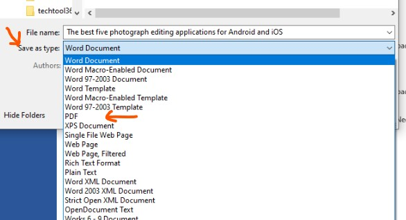 how to make pdf file with microsoft word