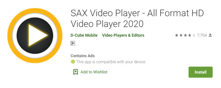 SAX Video Player for mac