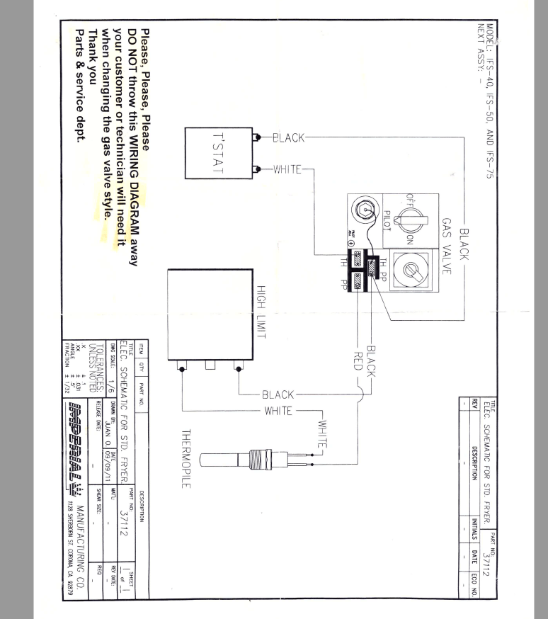 need wiring diagram for imperial IFS-40 FRYER