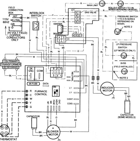Coleman Evcon Thermostat Wiring Diagram, Coleman, Free