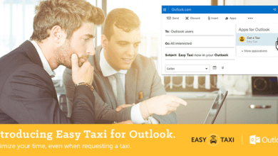 Photo of Easy Taxi app now available for Outlook