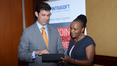 Alexandros Manos Chief Executive Officer for Intrasoft International and Wambui Mbesa CEO and Regional Director for Intrasoft International East Africa.J