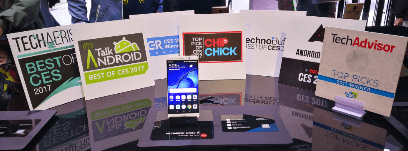 Huawei Mate 9 'Best of CES 2017' products