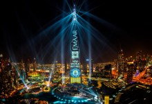 Photo of Dubai sets GUINNESS WORLD RECORD title for largest light and sound show on a single building on New Year's Eve