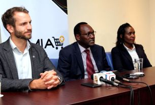 Featured Image: Jumia MD, Sam Chappatte, PS, State Department of Trade, Dr. Chris Kiptoo (Ministry of Industrialization, Trade & Cooperatives) and Florence Kimata - SMEs Advisor - (Ministry of Industrialization, Trade & Cooperatives) addressing the media during the event.