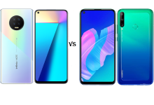 Huawei Y7p and Infinix NOTE 7 images