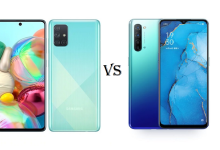 Samsung Galaxy A71 and Oppo Reno 3