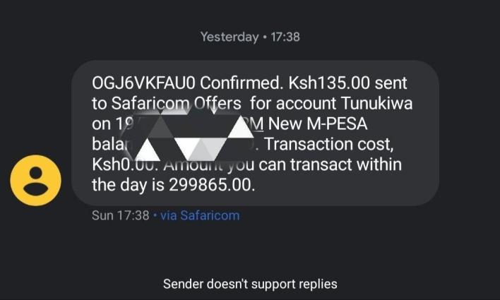 MPESA Daily transaction Limit counter