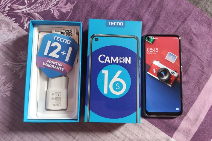 TECNO Camon 16s box contents