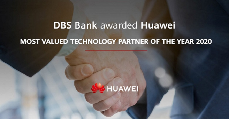 Huawei Awarded Most Valued Technology Partner of the Year 2020 from DBS Bank