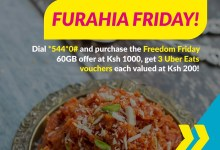 Purchase Telkom Kenya's Freedom Friday Bundle and Get Free Uber Eats Vouchers