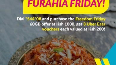 Purchase Telkom Kenya's Freedom Friday Bundle and Get Free Uber Eats Vouchers