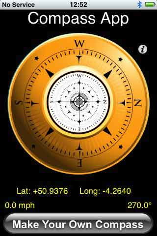 Use your iPhone 3G as a compass with free Compass App