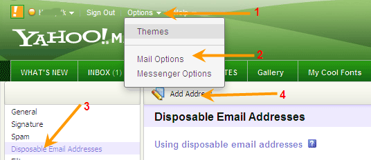 Create Disposable Email on Yahoo Mail For Privacy - Techtrickz