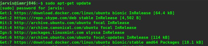 Install Docker on Ubuntu step 1