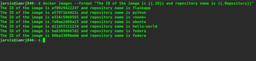 List Docker Image