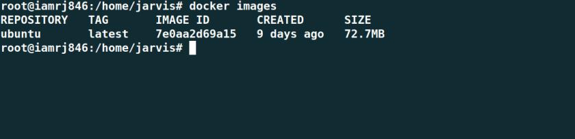 List Docker Images