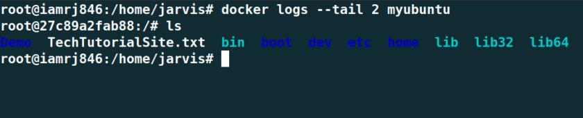 Tail Docker Logs