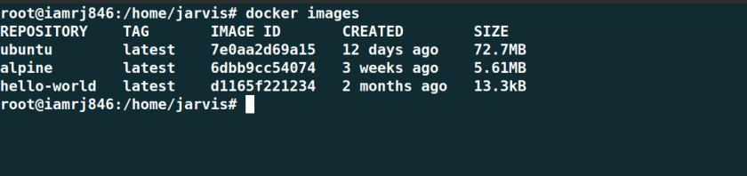List all Docker Images