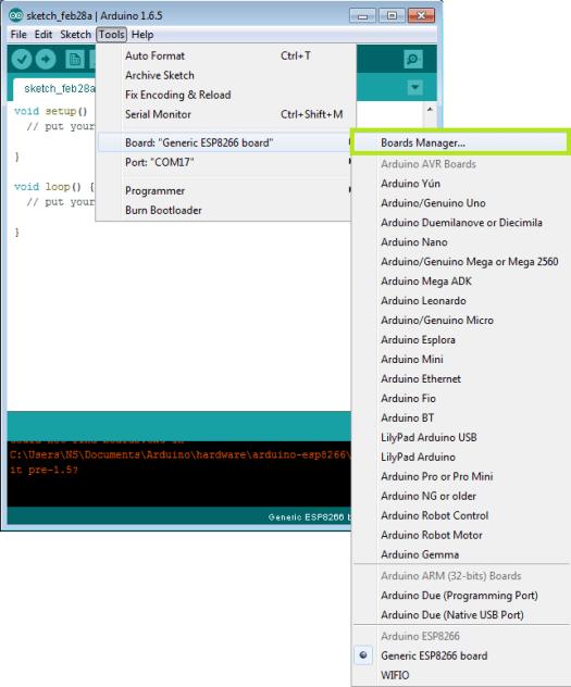 ESP8266: uploading code from Arduino IDE – techtutorialsx