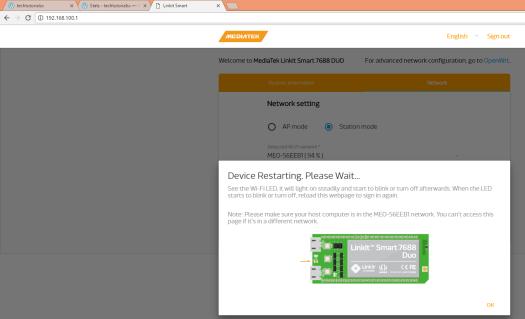 LinkIt Smart Duo: Connection to WiFi Network – techtutorialsx