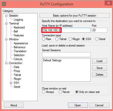 linkit-smart-putty-ip-address