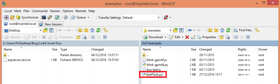 linkit-smart-test-flask-server-with-winscp