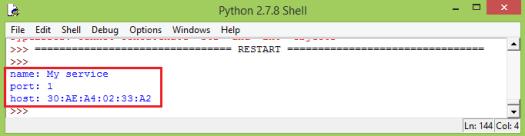 Python discovering ESP32 Bluetooth RFCOMM service