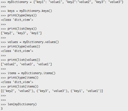 ESP32 ESP8266 MicroPython dictionary keys, values and items methods.png