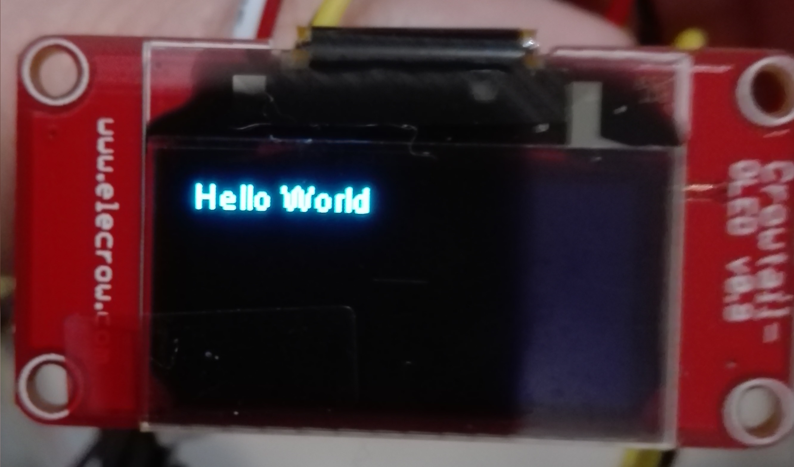 ESP32 Arduino: Interacting with a SSD1306 OLED display