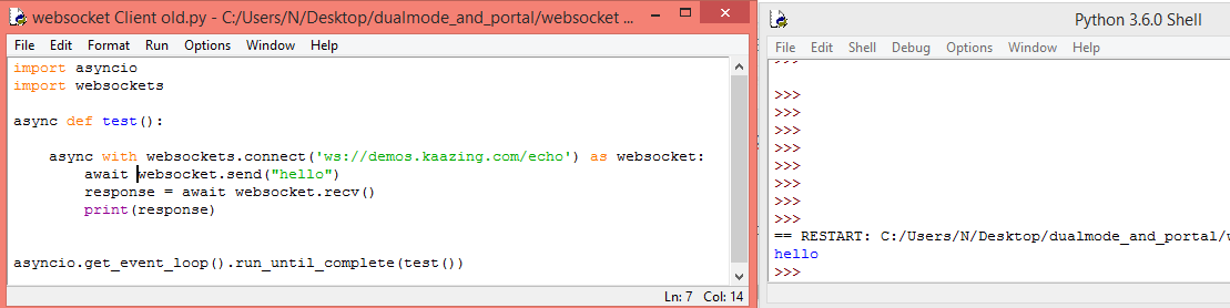Python: Websocket client – techtutorialsx