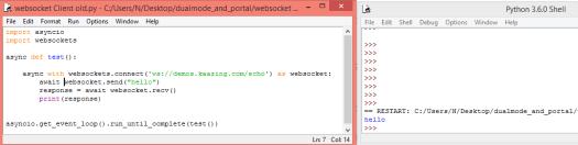 Python websocket client async